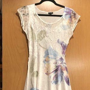Komarov Dress w/blue & lavender floral details